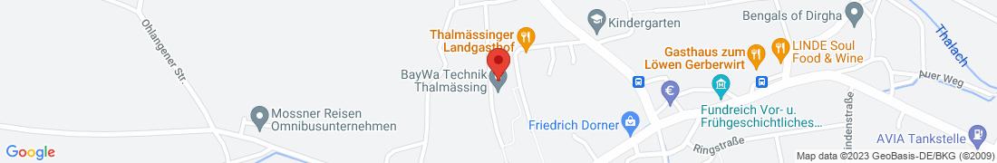 BayWa Tankstelle Thalmaessing Anfahrt