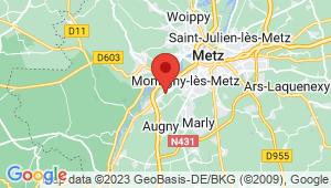 Carte de localisation du centre de contrôle technique MOULINS LES METZ