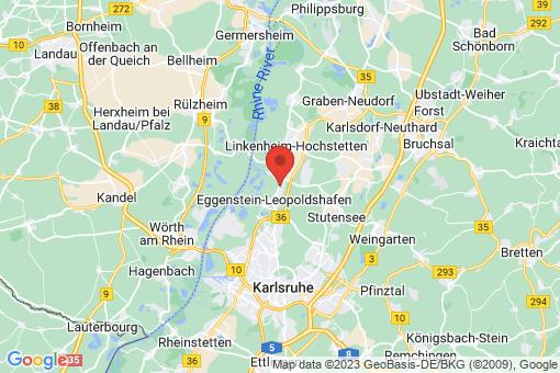 Karte Eggenstein-Leopoldshafen