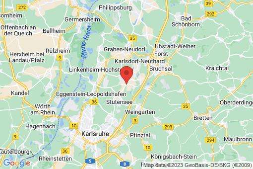 Karte Stutensee