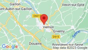 Carte de localisation du centre de contrôle technique VERNON