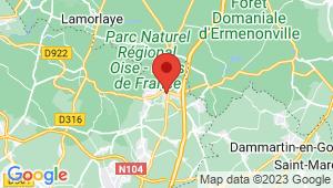 Carte de localisation du centre de contrôle technique FOSSES