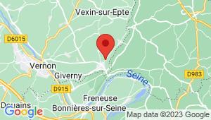 Carte de localisation du centre de contrôle technique GASNY