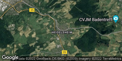 Google Map of Heidelsheim