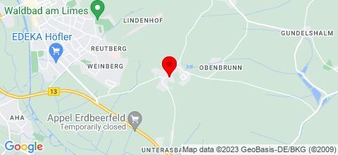 Google Map für Gasthaus Baumgärtner