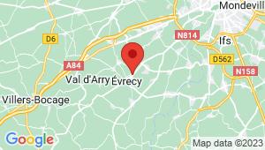 Carte de localisation du centre de contrôle technique EVRECY