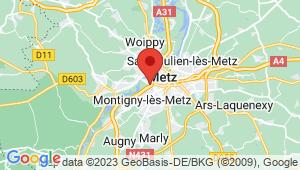 Carte de localisation du centre de contrôle technique LONGEVILLE LES METZ