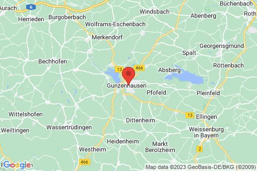 Karte Gunzenhausen
