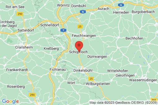 Karte Schopfloch