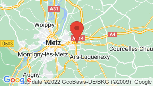 Carte de localisation du centre de contrôle technique Metz - général metman