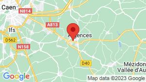 Carte de localisation du centre de contrôle technique ARGENCES