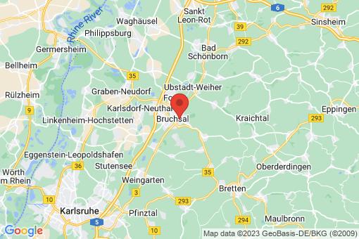 Karte Bruchsal