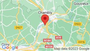 Carte de localisation du centre de contrôle technique L ISLE ADAM
