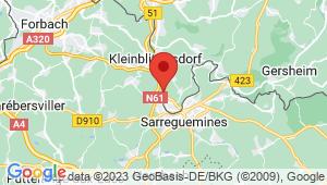 Carte de localisation du centre de contrôle technique GROSBLIEDERSTROFF