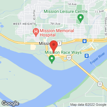 Map of Tim Hortons at 32525 London Ave, Mission, BC V2V 6M7