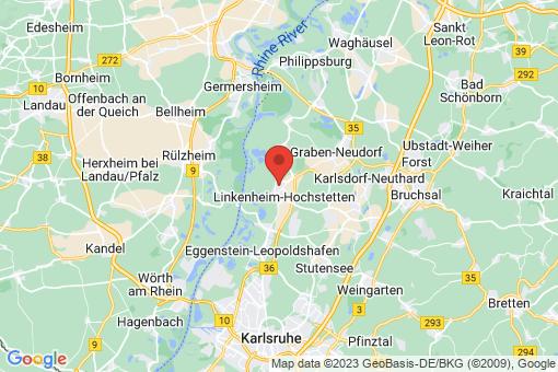 Karte Linkenheim-Hochstetten