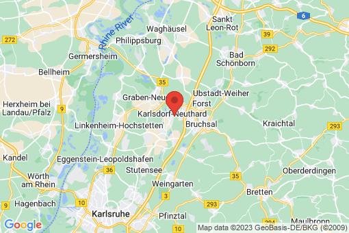 Karte Karlsdorf-Neuthard