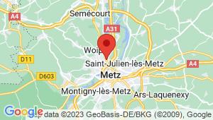 Carte de localisation du centre de contrôle technique Metz - avenue de thionville