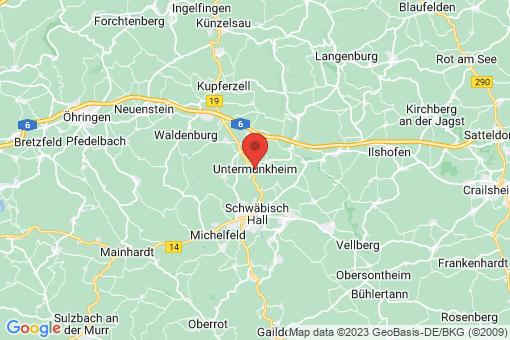 Karte Untermünkheim
