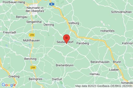 Karte Seubersdorf in der Oberpfalz