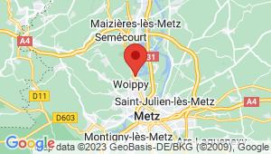Carte de localisation du centre de contrôle technique WOIPPY