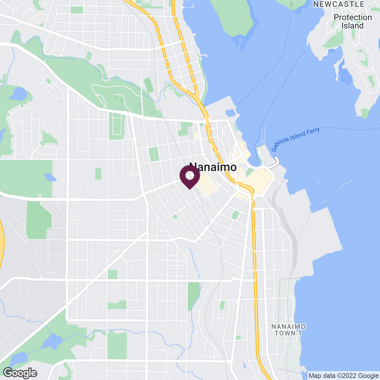 Google Maps static image of Nanaimo