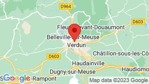 Carte de localisation du centre de contrôle technique VERDUN