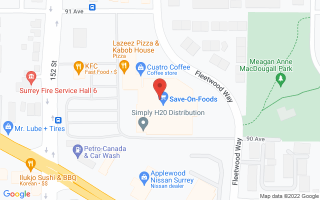 Surrey 152St Physiotherapy & Sports Injury Clinic Static Google Map Wide Version