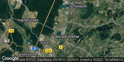 Google Map of Ubstadt-Weiher