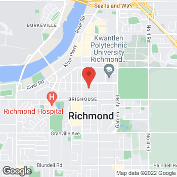 Map of Staples Print & Marketing Services at 8171 Ackroyd Road, Richmond, BC V6X 3J9