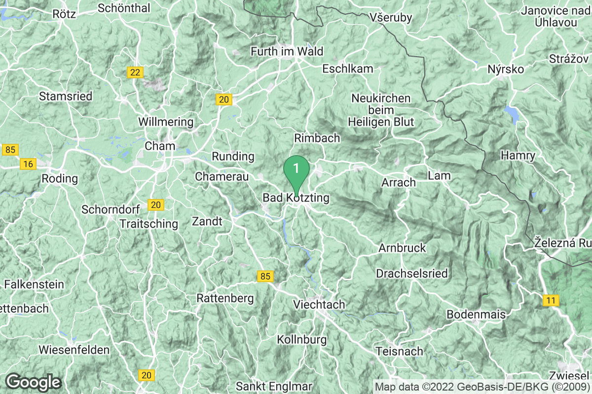 Google Map of Bad Kötzting