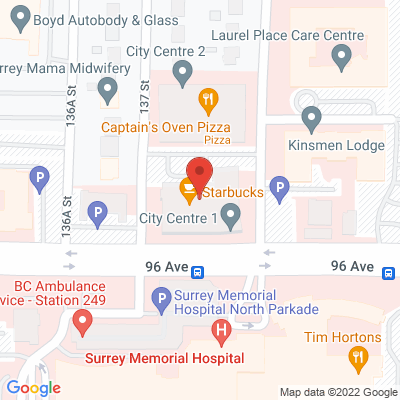 Pure Life Physiotherapy & Health Centre Surrey (96 Ave) Static Google Map