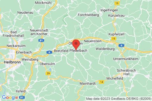 Karte Pfedelbach