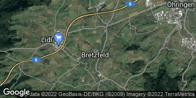 Google Map of Bretzfeld