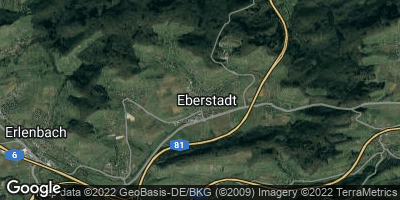 Google Map of Eberstadt