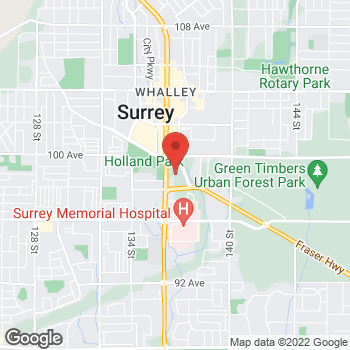Map of Tim Hortons at 9900 King George Blvd., Surrey, BC V3T 2W1