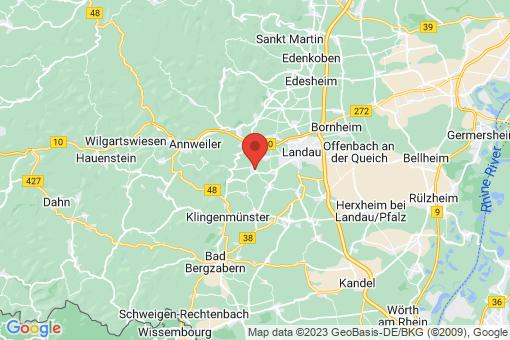 Karte Ilbesheim bei Landau in der Pfalz