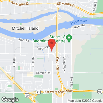 Map of Staples Print & Marketing Services at 2780 Sweden Way, Richmond, BC V6V 2X1