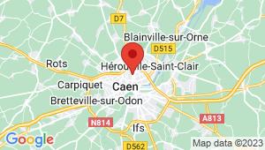 Carte de localisation du centre de contrôle technique CAEN