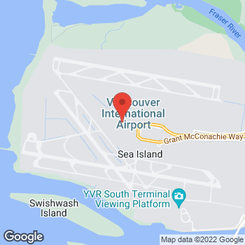 Map of Tim Hortons at Vancouver International Airport Terminal, Richmond, BC V7B 1Y7