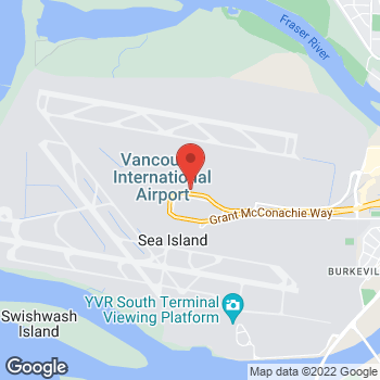 Map of Tim Hortons at 3880 Grant Mcconachie Way-pre Security Us, Richmond, BC V7B 1Y7