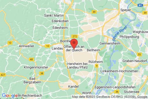 Karte Offenbach an der Queich