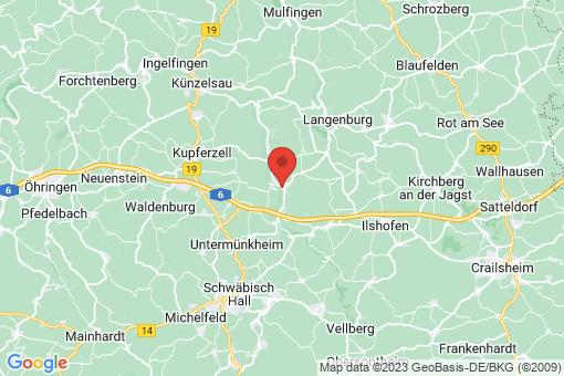 Karte Braunsbach