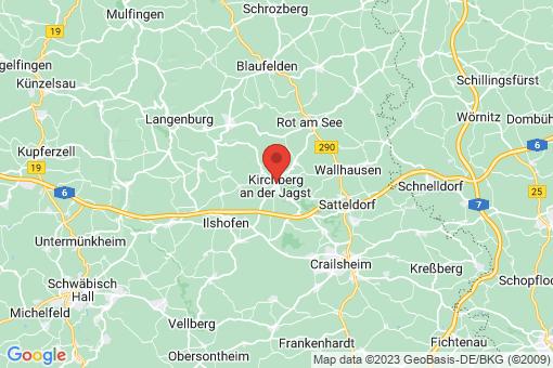 Karte Kirchberg an der Jagst