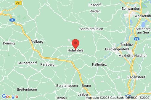 Karte Hohenfels