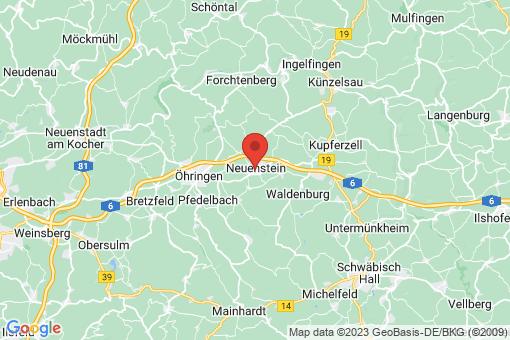 Karte Neuenstein