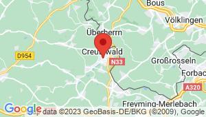 Carte de localisation du centre de contrôle technique Creutzwald