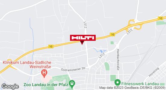 Wegbeschreibung zu Hilti Store Landau