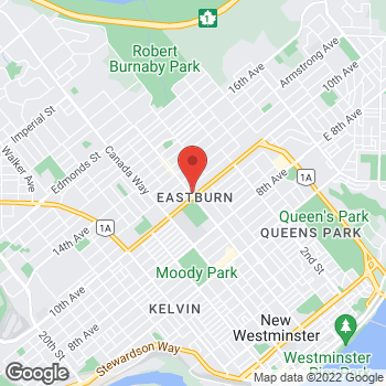 Map of Tim Hortons at 7880 6th Street, Burnaby, BC V3N 3N3