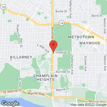 Map of Tim Hortons at 3720 Imperial St, Burnaby, BC V5J 1A1